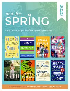 Spring+-+new+books Amanda Ward, Book Suggestions, Spring New, What To Read, New Books, Reading, Reading Books
