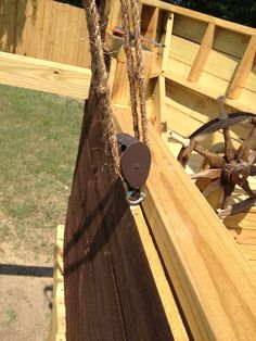 Pirate Ship Playground - grand kids trying to talk me into building one of these - a possibility