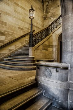 Seminary Building Staircase by Lindley Johnson