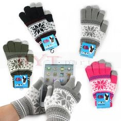 Touch Warm Gloves for iPhone Samsung HTC iPad Tablet PC Smart Phones Black/Gray/Pink/Olive 4 colors for your selections