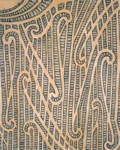 Horatio Gordon Robley, thigh pattern, between Wakairo tattoo on a left thigh. Maori Designs, Maori Patterns, Maori People, Nz Art, Maori Art, Anatomy Reference, Skin Art, Wall Plaques, Art Forms