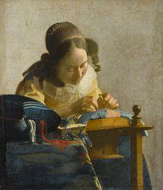 the lacemaker, vermeer.