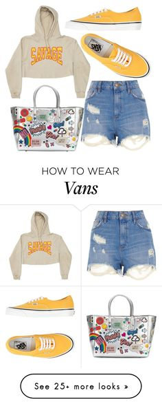 """""""Untitled #2801"""" by kucherukksenia on Polyvore featuring Vans, Anya Hindmarch and River Island"""
