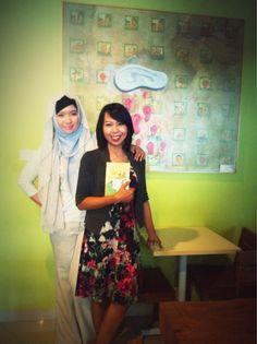 With Alberthiene Endah, bestselling author
