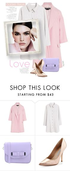 """take it, take another little piece of my heart now baby"" by mcheffer ❤ liked on Polyvore featuring мода, Rochas, MANGO, Pieces, Charles David, soft, shirtdress, pastels, fashiontrend и PinkWhite"