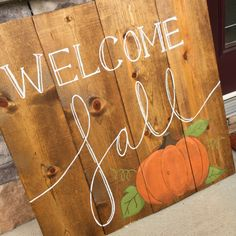 DIY #Fall Wood Sign and Outdoor Decorations | Brass and Whatnots