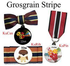 グログランリボンの勲章バッジ