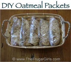 How To Make Homemade Oatmeal Packets! ~ from TheFrugalGirls.com {you'll love these fun tips for DIY Oatmeal Packets ~ the perfect quick and easy breakfast!}