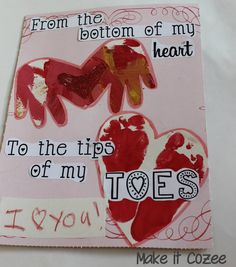 Cute toddler craft.  Valentine cards to give to parents and grandparents