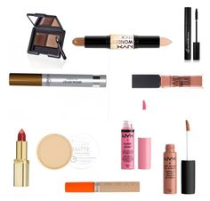 """Makeup under 50kr"" by stine-albertsen on Polyvore featuring beauty, Rimmel, L'Oréal Paris, Maybelline, e.l.f. and NYX"