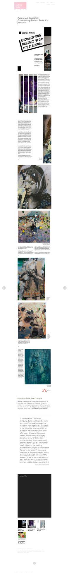 Article: http://bartoszbeda.com/expose-art-magazine-encountering-bartosz-beda-its-personal/