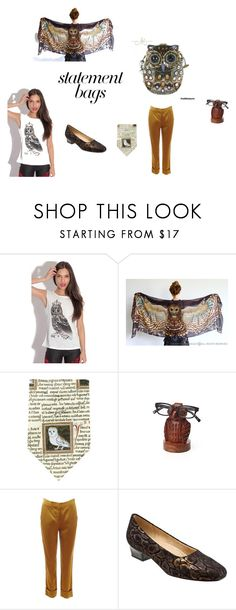 Owl Be Back by rocky-springs-vintage on Polyvore featuring STELLA McCARTNEY, Trotters, Mary Frances Accessories, statementbags and maryfrances