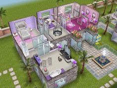 House 49 Barbies Dream House (level 2) #sims #simsfreeplay #simshousedesign