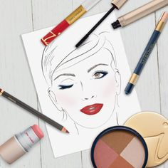 Start with Dream Tint. Apply Clarity Cream Blush with fingertips. Apply Sunbeam with Fan Brush. Line eyes with Lapis Lazuli Mystikol and highlight. Finish with Navy mascara. Fill lips with Crimson pencil and top with Passion Lip Fixation.