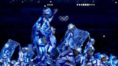 Dancers perform during the opening ceremony of the 2016 Olympic Games at Maracana Stadium in Rio de Janeiro.