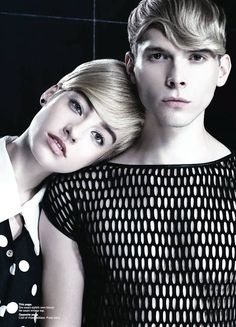 "He and She. // Inspiration from KEVIN.MURPHY artist Tim McClean  <a class=""pintag"" href=""/explore/hair/"" title=""#hair explore Pinterest"">#hair</a>"