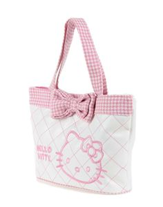 Hello Kitty Cute Pink Minimalist Canvas Handbag - Hello Kitty Handbag - Hello Kitty Stores :: BeardBrother Hello Kitty Handbags, Hello Kitty Bag, My Christmas List, Canvas Handbags, Cute Pink, Sanrio, Cute Cartoon, Cosmetic Bag, Fashion Bags