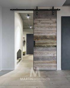 Love the color Interior Design Videos, Interior Design Career, Grey Interior Design, Interior Design Living Room, Kitchen Interior, Barn Door Designs, Industrial Home Design, Cool Doors, Contemporary House Plans