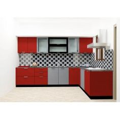 Buy Dombeya L Shaped Kitchen Online L Shaped Modular Kitchen, Beautiful Kitchen Cabinets, Online Kitchen Design, Kitchen Modular, Kitchen Room Design, Kitchen Furnishings, Wardrobe Door Designs, Kitchen Furniture Design, Kitchen Design