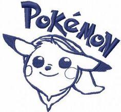 Pokemon Picachu embroidery design 2. Machine embroidery design. www.embroideres.com