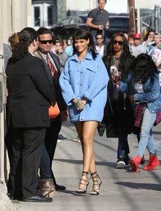 Rihanna at Jimmy Kimmel Live