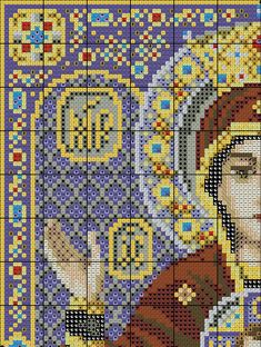 Икона неупиваемая чаша / Вышивка крестом / В рукоделии