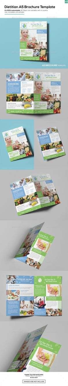 Seafood Restaurant A5 Brochureleaflet Template Leaflet Template