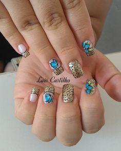 30 Modelos de unhas decoradas com borboletas French Nails, Spring Nails, Love Nails, Nail Art Designs, Hair Beauty, 30, Billie Eilish, Cool, Perfect Nails