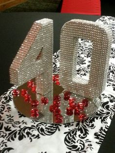 Bling Centerpiece can do any number 40th Party Ideas, 40th Bday Ideas, Birthday Ideas, Birthday Images, 40th Wedding Anniversary, Anniversary Parties, Bling Centerpiece, Diamond Party, 70th Birthday Parties