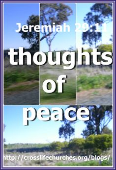 Jeremiah 29:11  For I know the thoughts that I think toward you, saith the LORD, thoughts of peace, and not of evil, to give you an expected end.