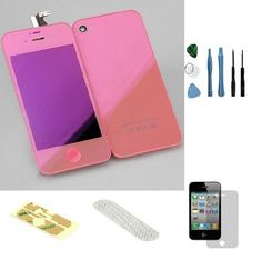 Iphone 4 CDMA (Verizon/Sprint) Complete Color Change Kit (Mirror Pink) #http://www.pinterest.com/ordercases/