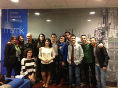 Con mis alumnos del Master de Marketing Digital en MSMK.