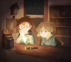 Lotte and Annabel --Little Witch Academia--