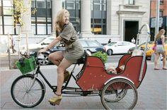 Bike, dog in cargo