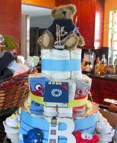 nautical baby shower diaper cake