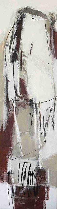 abstrakte Malerei Acryl-Mischtechnik auf Leinwand 0,40 m x 1,40 m