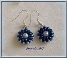 Girasole - Perlen  Use more superduos to create space for larger center bead