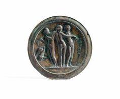 Mirror ornamented with the three Graces. Roman, century A. Modern Mirrors, Mirror Ornaments, Roman Artifacts, Roman Jewelry, Ancient Rome, Old Art, Bronze Sculpture, Roman Empire, Byzantine