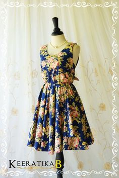 A Party Dress V Charming Dress Floral by LovelyMelodyClothing