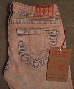 True Religion Casey Capris  $74.99 love the pink wash  http://stores.ebay.com/NYC-Fitness-Family-and-Finds