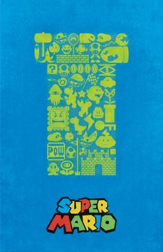 Super Mario Vintage Style Poster -Dylan West
