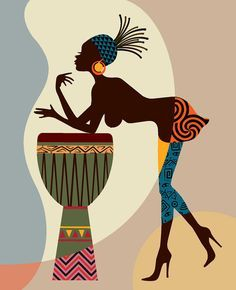 African American Art African wall Art African Woman by iQstudio #africa #art #blackart
