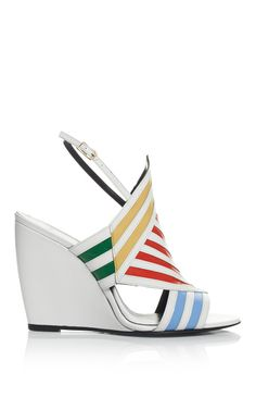Multi And White Buren Wedge by Pierre Hardy for Preorder on Moda Operandi