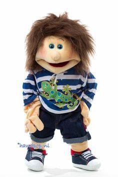 handpop Joep - Handpoppen.nl Paper Puppets, Hand Puppets, People Puppets, Living Puppets, Children's Literature, Baby Dolls, Creative, Stuffed Animals, Dog Stuff