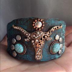Spotted while shopping on Poshmark: Longhorn Patina Bracelet! #poshmark #fashion #shopping #style #Jewelry