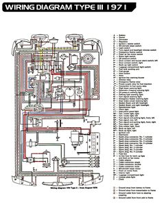 71 VW T3 wiring diagram Ruthie Pinterest Vw