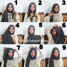 tutorial cara pakai hijab pashmina motif kotak-kotak Tutorial Hijab Pashmina, Hijab Tutorial, Tutorial Hijab Modern, Modern Outfits, Hijab Fashion, My Style, Simple, Hijab Styles, Inspiration