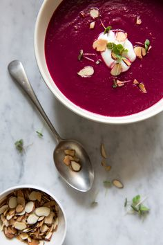 caramelized onion & beet soup.