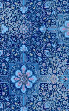 Moroccan Pattern / Wallpaper Design / Blue Textile Background
