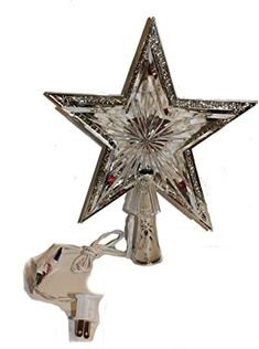"""Christmas Elegance 9"""" Lighted Silver Double Star Tree Topper, Indoor Use Only Christmas Tree Gif, Star Christmas Lights, Christmas Tree Toppers, Christmas Tree Decorations, Christmas Holidays, Xmas, Christmas Ornaments, Twinkle Star, Twinkle Twinkle"""